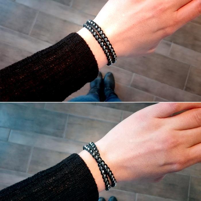 1 Armband, 2 unterschiedliche Stile.
